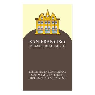 Plantilla de la tarjeta de visita de las propiedad