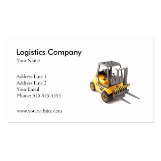 Plantilla de la tarjeta de visita de Logistics Com