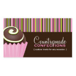 Plantilla de la tarjeta de visita de los dulces