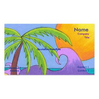 Plantilla de la tarjeta de visita de los pensamien
