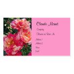 Plantilla de la tarjeta de visita de los rosas roj