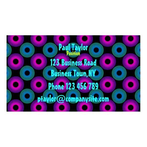 Plantilla de la tarjeta de visita de Pychedelic de