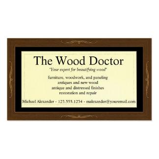 Plantilla de la tarjeta de visita de Woodlook