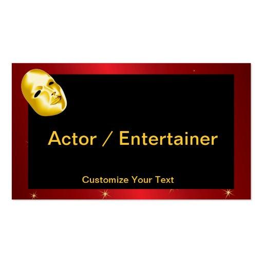 Plantilla de la tarjeta de visita del actor