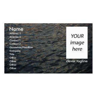Plantilla de la tarjeta de visita del agua