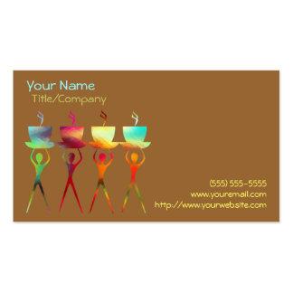 Plantilla de la tarjeta de visita del arco iris de