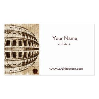 Plantilla de la tarjeta de visita del arquitecto