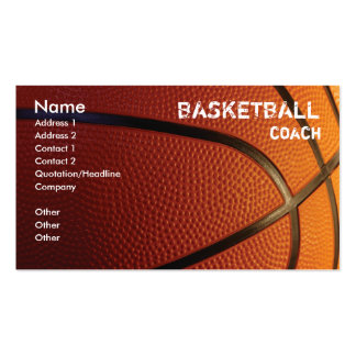 Plantilla de la tarjeta de visita del baloncesto