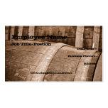 Plantilla de la tarjeta de visita del barril de vi