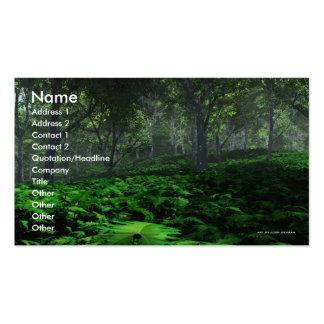 Plantilla de la tarjeta de visita del bosque que p