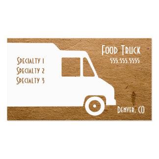 Plantilla de la tarjeta de visita del camión de la