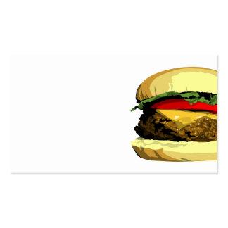 Plantilla de la tarjeta de visita del cheeseburger