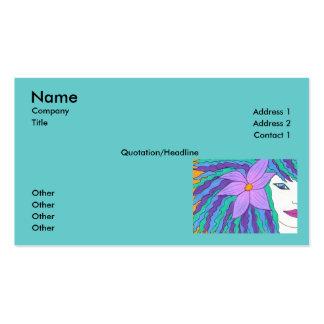 Plantilla de la tarjeta de visita del chica de la