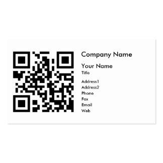 Plantilla de la tarjeta de visita del código de QR