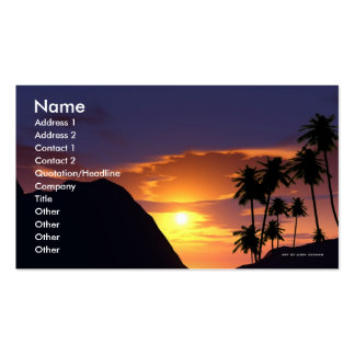 Plantilla de la tarjeta de visita del destino de U