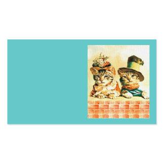 Plantilla de la tarjeta de visita del gato del Vic