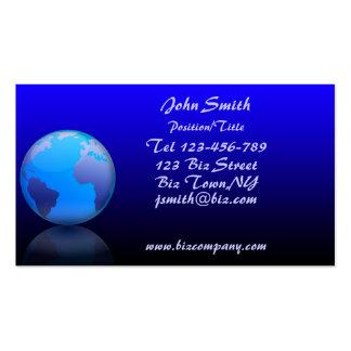 Plantilla de la tarjeta de visita del globo del