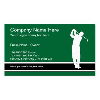 Plantilla de la tarjeta de visita del golf