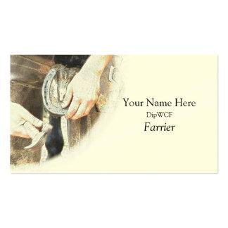 Plantilla de la tarjeta de visita del herrador