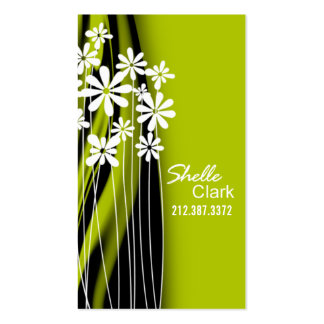Plantilla de la tarjeta de visita del jardín de fl