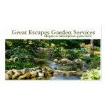 Plantilla de la tarjeta de visita del jardín del a