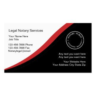 Plantilla de la tarjeta de visita del notario