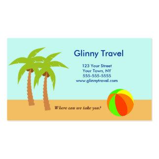 Plantilla de la tarjeta de visita del océano de la
