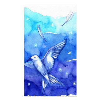 Plantilla de la tarjeta de visita del pájaro de la