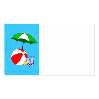 Plantilla de la tarjeta de visita del paraguas de