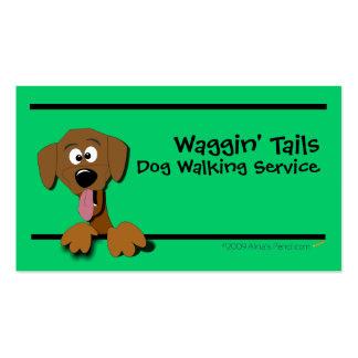 Plantilla de la tarjeta de visita del perro del di