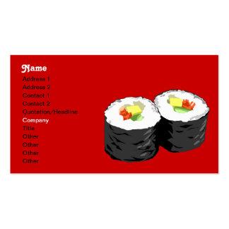 Plantilla de la tarjeta de visita del sushi