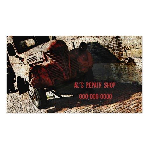 Plantilla de la tarjeta de visita del taller de re