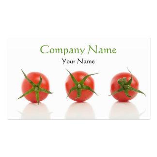 Plantilla de la tarjeta de visita del tomate