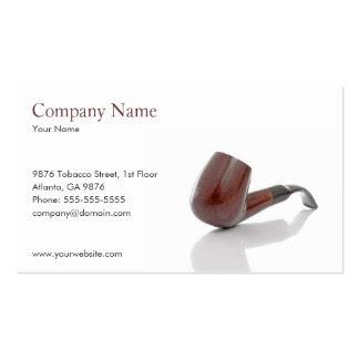 Plantilla de la tarjeta de visita del tubo de taba