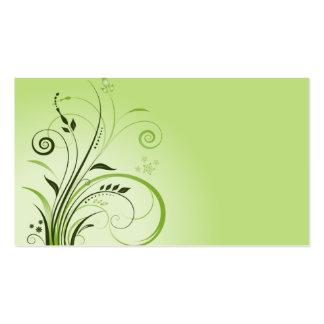 plantilla de la tarjeta de visita del verde de la