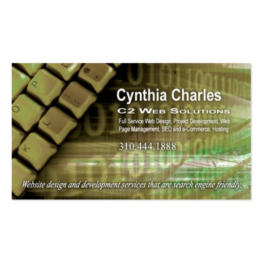 Plantilla de la tarjeta de visita del Web Design-1