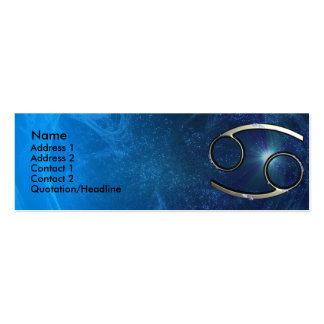 Plantilla de la tarjeta de visita del zodiaco del