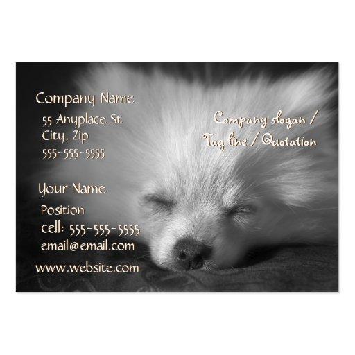 Plantilla de la tarjeta de visita el dormir Pomera