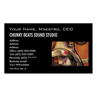 Plantilla de la tarjeta de visita industria music