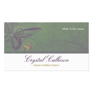 Plantilla de la tarjeta de visita - mariposa hermo