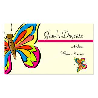 Plantilla de la tarjeta de visita ** mariposas 1