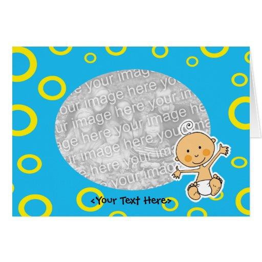 Plantilla de la tarjeta del bebé