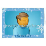 Plantilla de la tarjeta del copo de nieve