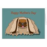 Plantilla de la tarjeta del día de madre del perro