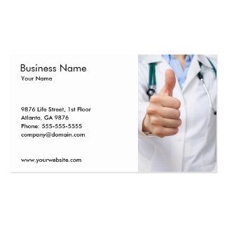 Plantilla de la tarjeta del doctor visita tarjetas de visita