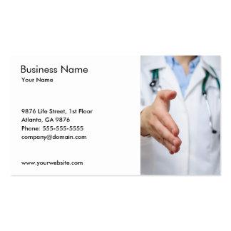 Plantilla de la tarjeta del doctor visita plantilla de tarjeta de visita