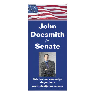 Plantilla de la tarjeta del estante de la campaña  lona