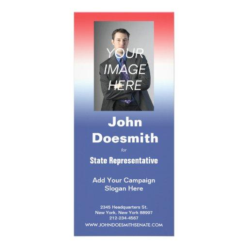 Plantilla de la tarjeta del estante de la campaña  diseño de tarjeta publicitaria
