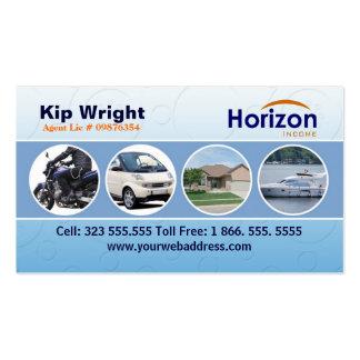 Plantilla de la tarjeta del negocio de seguros plantillas de tarjetas de visita