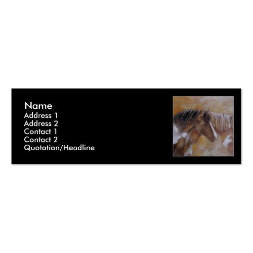 Plantilla de la tarjeta del perfil - caballos tarjetas de visita